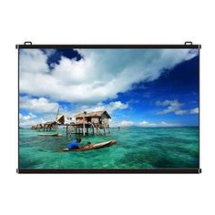Luzon Dzire Wall Type Projector Screen HomeTheatre HDTV Projection >> Keeps your Eyes Strain Free while Viewing >> INR 3490 >> Digital Photo Frame, Eye Strain, Home Theater, Black Wood, Projector Screens, This Is Us, Remote, Surface, Display