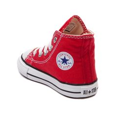 Classic Converse Hi Top Chucks for the little courtsters. You can never be too old or too young for the originals. Canvas upper.  <br><br>Manufacturer style 7J232