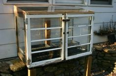 "Happy Friday, all! My ""Small Measures with Ashley"" post is up on Design Sponge. This week I discuss making a cold frame for spring plants using old windows. Window Greenhouse, Small Greenhouse, Greenhouse Plans, Greenhouse Wedding, Backyard Greenhouse, Homemade Greenhouse, Portable Greenhouse, Backyard Farming, Permaculture"
