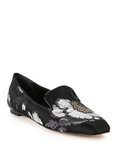 Alexander McQueen - Floral Jacquard Loafers