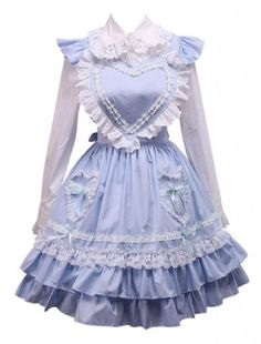 M4U Womens Cotton White Lolita Blouse And Blue Sweet Lolita Skirt M4U Online Shopping to see or buy click on Amazon here http://www.amazon.com/dp/B00JWJAGE0/ref=cm_sw_r_pi_dp_Jy-Ltb166TV9X677