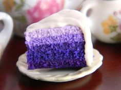 Purple Ombre Cake Slice Charm Lavender Cake Charm by OhLuckyCharm Lavender Cake, Purple Cakes, Ombre Cake, Salty Cake, Cute Desserts, Clay Food, Purple Ombre, Polymer Clay Charms, Cake Tins