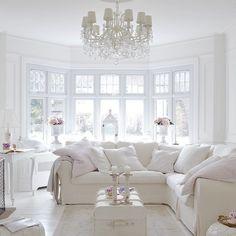Home Decorating Websites Free Glam Living Room, Elegant Living Room, Living Room White, Living Room Interior, Living Room Decor, All White Room, White Rooms, Living Room Inspiration, Home Decor Inspiration