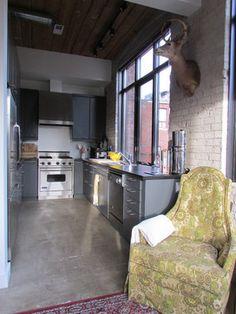 Industrial Loft - contemporary - kitchen - toronto - Jenn Hannotte / Hannotte Interiors