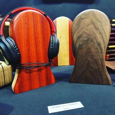 Wooden headphone stands are perfect for your audiophile. Only at Holiday Market in Eugene. Holiday Market, Audiophile, Gift Guide, Marketing, Guys, Sons, Boys