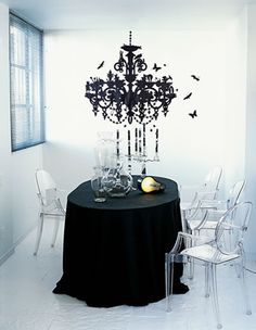black and white #dining room