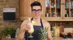 Pina colada made by the Topless Baker with Tastemade UK