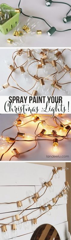Use for Weddings or Party, Spray Paint Your Christmas Lights!