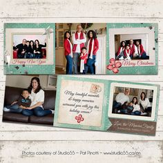 Christmas Photo Card  Trifold  5x5 Printable by ValeriePullam, $18.00