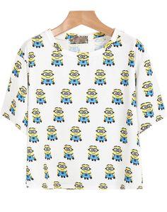 White Short Sleeve Beedo Print T-Shirt 12.00