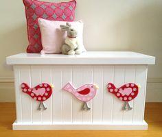 Toy Box Bird Cherry Red/Pink Girls Toy by littlebigdesignsshop