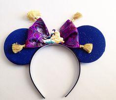 Aladdin Jasmine Whole New World ears headband by seamcometrue Disney Mickey Ears, Disney Bows, Disney Diy, Disney Crafts, Disney Trips, Disney 2017, Mickey Mouse, Ear Headbands, Disney Headbands