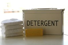 Old Ammo Box turned Laundry Detergent Box