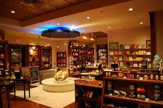 Really pretty bookshop interior - not sure about the pond, though! Forest Book, Night Forest, Bookstore Design, Library Design, Showroom Interior Design, Thesis, Cosy, Liquor Cabinet, Pretty