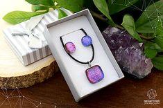 AngelEve / Fialovo-ružová sada sklenených šperkov II. Jewelry Art, Jewellery, Open Art, Rings, Jewels, Schmuck, Ring, Jewelry Rings, Jewelry Shop