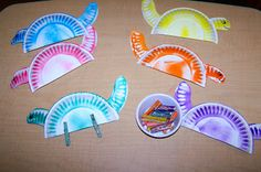 Cute Dinosaur Craft W Paper Plates Wonder If Muffin Liners Would Make Good Spikes