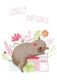 Gina Lorena Maldonado - Flowery Bear - Lovely Birthday - GM