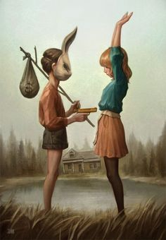 Art by Unknown | Community Post: 42 Truly Haunting Pieces Of Art - So reminds me of Daredevils of Haizerville