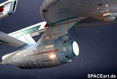 Star Trek: U.S.S. Enterprise NCC-1701 (mit Beleuchtung), Modell-Bausatz (Abbildung 3)