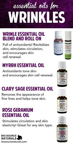 Revitalize your skin, encourage skin cell renewal, and smooth out wrinkles with these essential oils and blends.: Revitalize your skin, encourage skin cell renewal, and smooth out wrinkles with these essential oils and blends. Myrrh Essential Oil, Clary Sage Essential Oil, Essential Oils For Skin, Young Living Essential Oils, Essential Oil Blends, Anti Aging Skin Care, Natural Skin Care, Natural Face, Natural Things