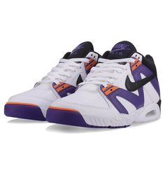 1e57da8dbb67 Nike Air Tech Challenge III White   Black   Voltage Purple   Bright Mandarin  - Nike