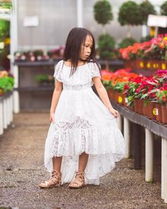 f9d8ee59f6899 Calista High Low White Lace Dress. Fall Flower GirlFlower Girl Dresses  CountryFlower ...