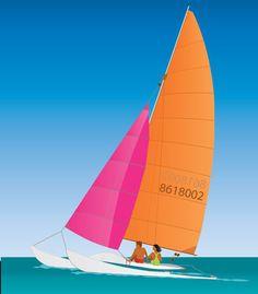 free Catamaran Sailing vector - Holiday