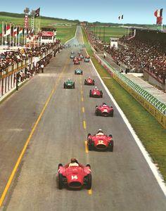 1956 GP Francji (Reims) Ferrari D50 - Collins,Castellotti,Fangio & Maserati 250F - Moss