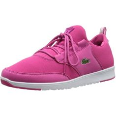 Lacoste Women's Light PIQ Fashion Sneaker (50 AUD) ❤ liked on Polyvore featuring shoes, sneakers, laced shoes, lacoste, laced up shoes, lacing sneakers and lace up sneakers