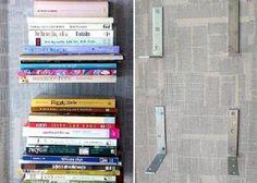 Mão francesa para empilhar livros. | 30 jeitos de decorar sua casa como você nunca imaginou (e com apenas R$10):