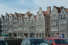 Dwellings by Old Town of Gdansk, Poland.