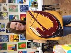 Painting with a twist party. 03/30/13