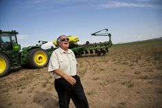 Howard Buffet on his 1,400-acre research farm in Wilcox, Ariz. Buffett, the son of billionaire investor Warren, is working to find permanent solutions to the world's hunger problems.
