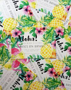 Aloha Invitiations / Invites / Birthday / by Clairetinceydesign