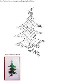 Home : Iris Folding : Christmas : Christmas Tree 4 Iris Folding ...