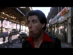 ▶ Saturday Night Fever (1977) famous TRAVOLTA WALK ; ) • Stayin' Alive intro scene song sung by the Bee Gees • song wiki: http://www.wikiwand.com/en/Stayin%27_Alive • film wiki: http://www.wikiwand.com/en/Saturday_Night_Fever • film imdb: http://www.imdb.com/title/tt0076666/?ref_=nv_sr_2