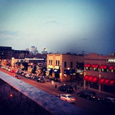 Minneapolis, as seen from the rooftop of Moto-i. Photo by Mariah LaQua.