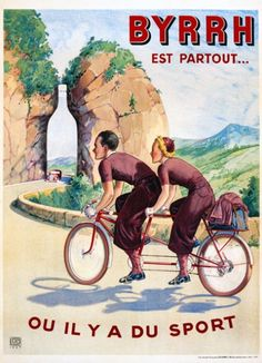 Bicycle vintage advert | Cycles retro poster |