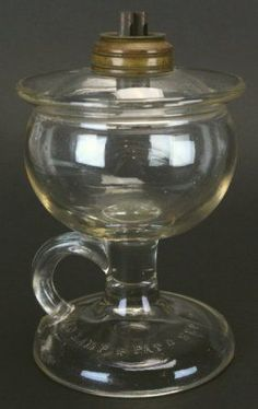 Glass Oil Finger Lamp, 1870