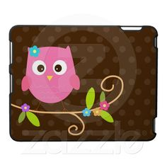 Pink Owl ipad cover case
