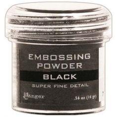 Ranger Basics Embossing Powders: Super Fine Black