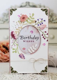Birthday Wishes Card by Melissa Phillips for Papertrey Ink (May 2017)