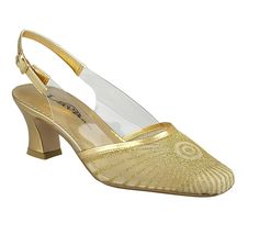 Lava Harmony Gold, 1920s Slingback Shoe for Women