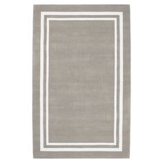Decorator Border Rug, grey. If you wanted an area rug, this would be a great choice!