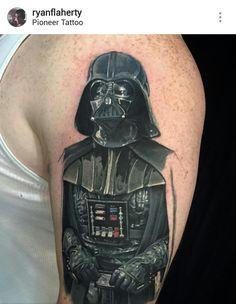 Star Wars Darth Vader tattoo by Ryan Flaherty