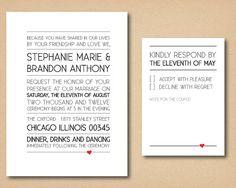 Printable Custom Wedding Invitation Modern Love by SomethingModern