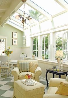I love the possibility that these sunroof panels could be added to a single story home, in a room that has a wall of windows! What a transformation!