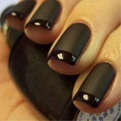 amazing matte black nails