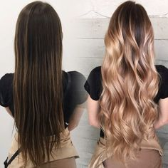 beautiful #hair transformation using the best hair dryer and flat irons