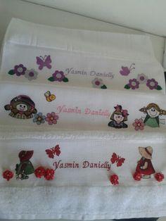 Toalhas infantis de lavabo - meninas